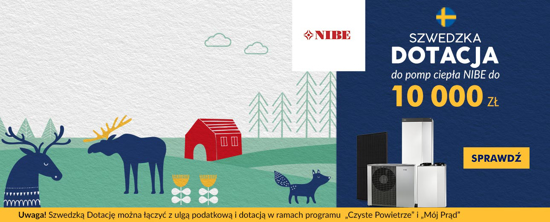 Obrazek NIBE - szwedzka dotacja do pomp ciepła do 10 000 zł