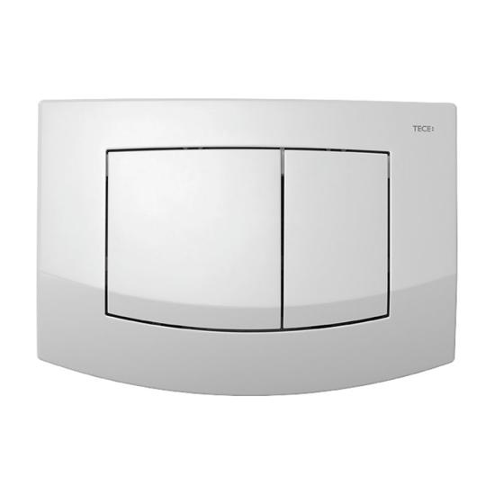 Obrazek TECEambia - przycisk spłukujący do WC z tworzywa, biały, podwójny