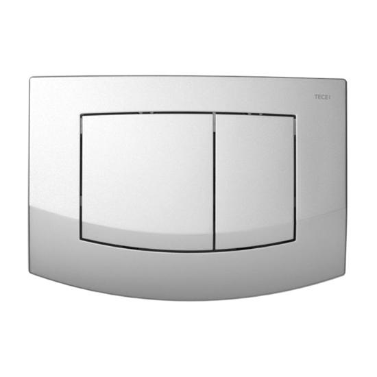 Obrazek TECEambia - przycisk spłukujący do WC z tworzywa, chrom matowy, podwójny