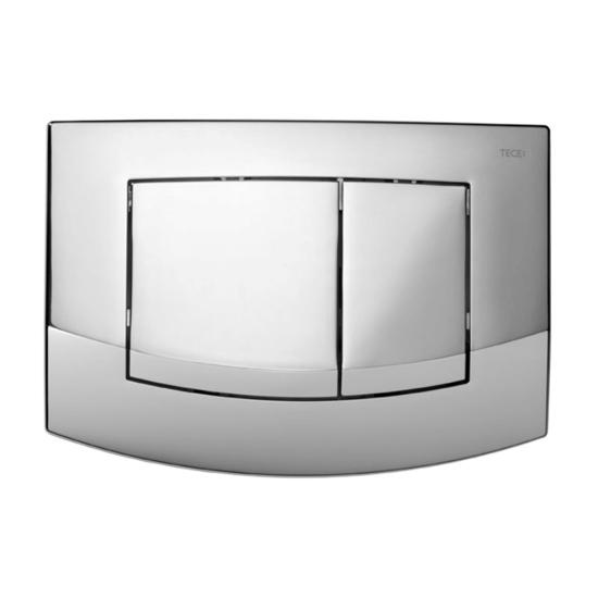Obrazek TECEambia - przycisk spłukujący do WC z tworzywa, chrom połysk, podwójny