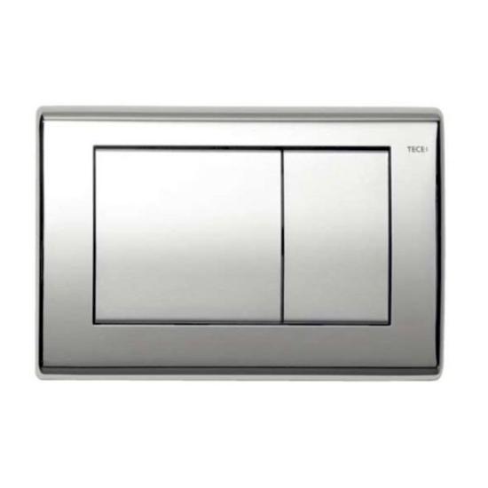Obrazek TECEplanus - przycisk spłukujący do WC z metalu, chrom połysk, podwójny
