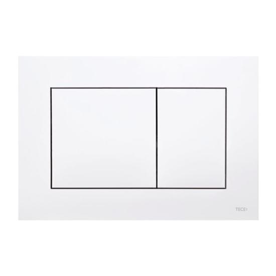 Obrazek TECEnow - przycisk spłukujący do WC z tworzywa, biały