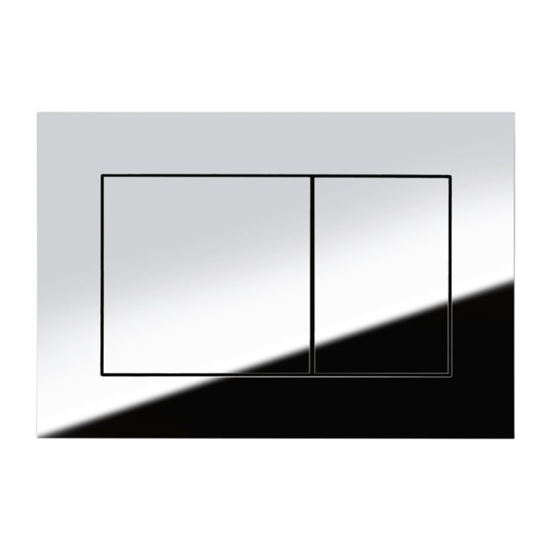 Obrazek TECEnow - przycisk spłukujący do WC z tworzywa, chrom połysk