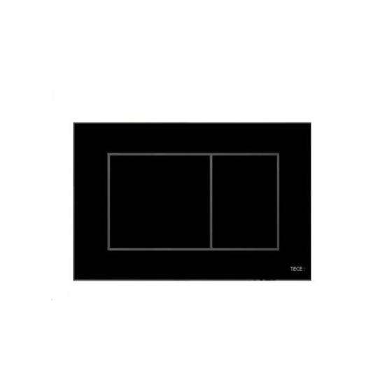 Obrazek TECEnow - przycisk spłukujący do WC z tworzywa, czarny połysk