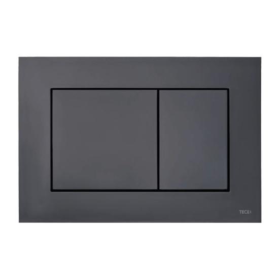 Obrazek TECEnow - przycisk spłukujący do WC z tworzywa, czarny matowy