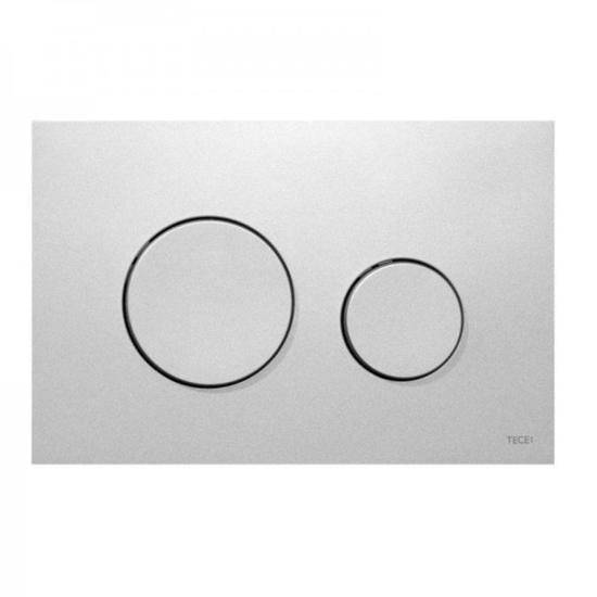 Obrazek TECEloop - przycisk spłukujący do WC z tworzywa, chrom matowy