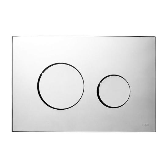 Obrazek TECEloop - przycisk spłukujący do WC z tworzywa, chrom połysk