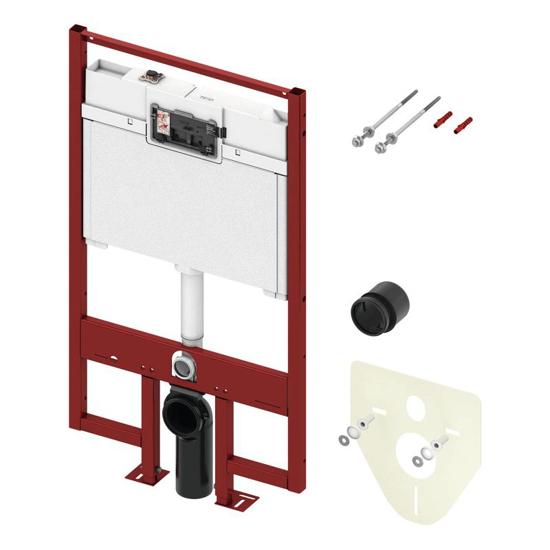 Obrazek TECEconstruct - stelaż podtynkowy do WC ze spłuczką Octa, głębokość zabudowy 8 cm