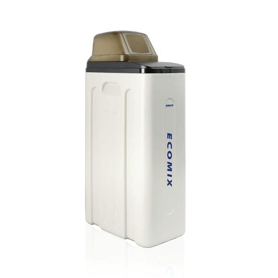 """Obrazek Kompaktowe urządzenie do uzdatniania i zmiękczania wody z własnych ujęć (studni) Viteco ECOMIX 25L, przyłącza 1"""", z kompletnym zestawem filtracji wstępnej i zestawem do mierzenia twardości wody"""