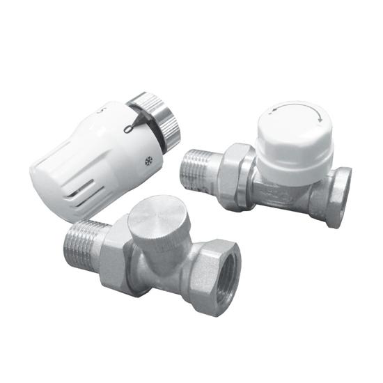 Obrazek 7024 Komplet termostatyczny prosty do podłączenia grzejnika DN15, PN10