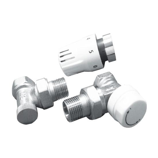 Obrazek 7025 Komplet termostatyczny kątowy do podłączenia grzejnika DN15, PN10
