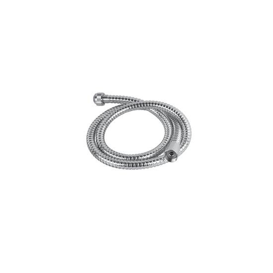 Obrazek HS-019 G1/2xG1/2 Przewód natryskowy 1,2m, w osłonie metalowej, nakrętka stożkowa, EN 1113