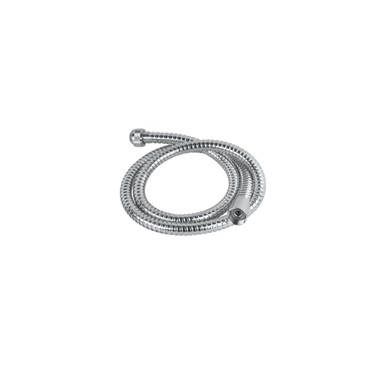 Obrazek HS-019 G1/2xG1/2 Przewód natryskowy 2m w osłonie metalowej, nakrętka stożkowa, EN 1113