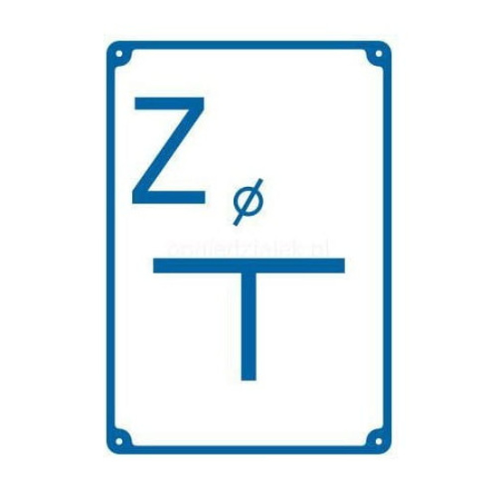 """Obrazek TABLICZKA OZNACZENIOWA """"Z"""" ALUMINIOWA NORSON"""
